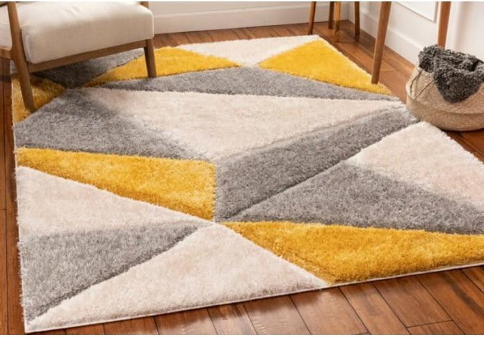 Cove Yellow & Grey Colored Rug <small>( 6 L x 4 W )</small>