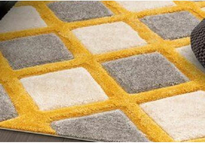 Dora Yellow & Grey Colored Rugs <small>(8 L x 5 W)</small>