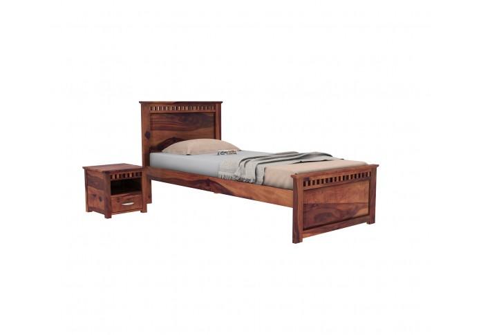 Fusion Single Bed Without Storage ( Teak Finish )