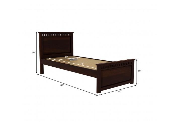 Fusion Single Bed Without Storage ( Walnut Finish )