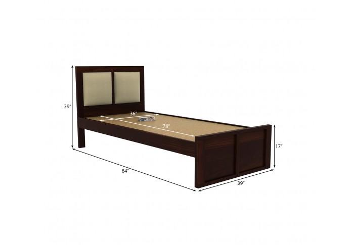 Harris Single Bed Without Storage ( Walnut Finish )