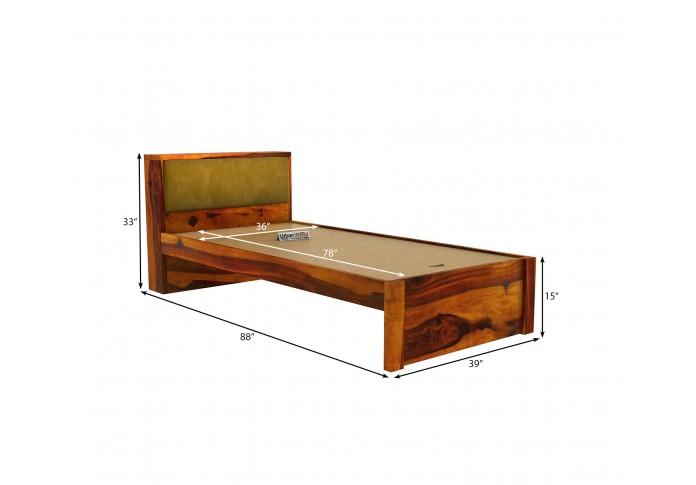 Laverock single bed without storage ( Honey Finish )