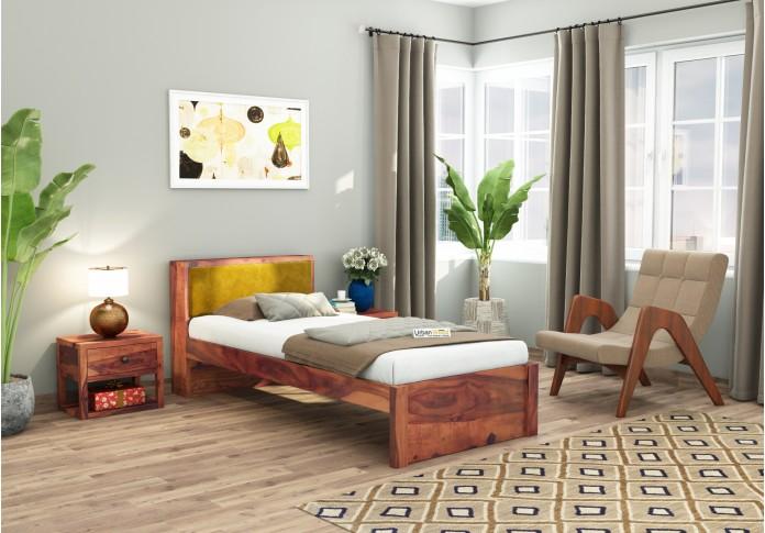 Laverock single bed without storage ( Teak Finish )