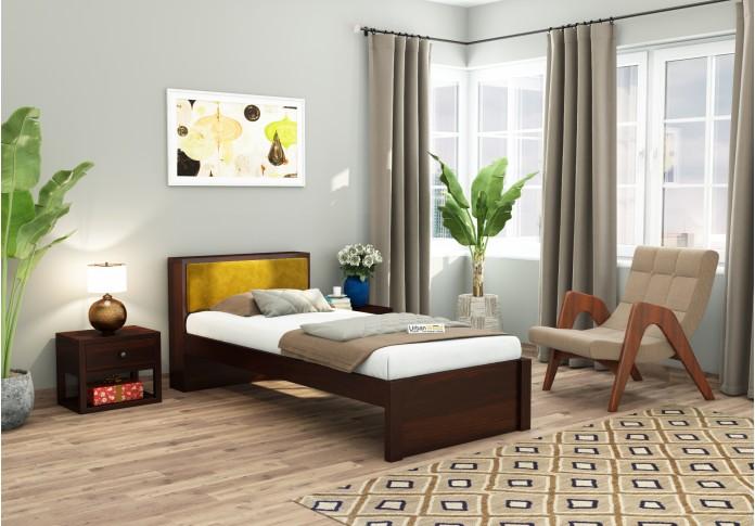 Laverock single bed without storage ( Walnut Finish )