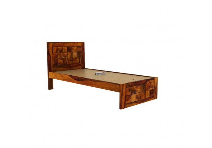 Morgana single bed without storage <small>( Honey Finish )</small>