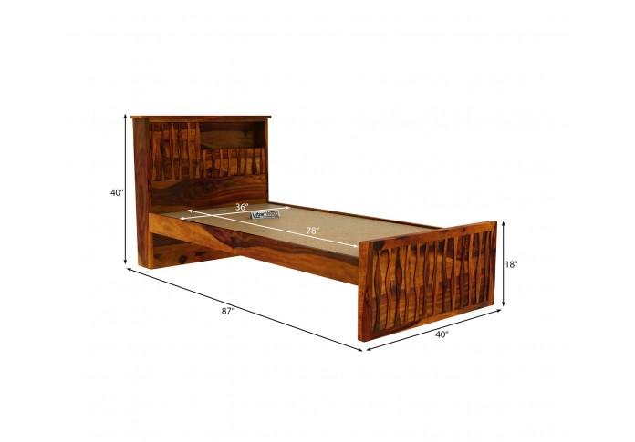 Stack Single Bed Without Storage ( Honey Finish )