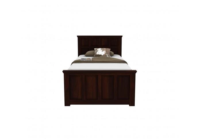 Thoms single bed without storage ( Walnut Finish )