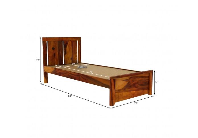Topaz Single Bed Without Storage ( Honey Finish )