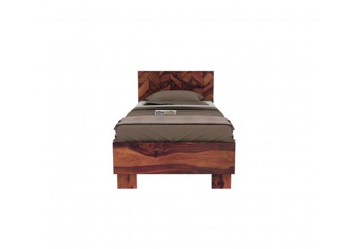 Trace Single Bed Without Storage ( Teak Finish )
