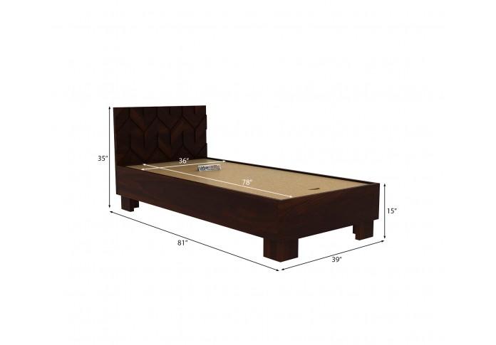 Trace Single Bed Without Storage ( Walnut Finish )
