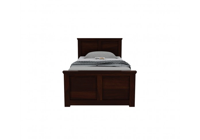 Babson Single Bed With Storage <small>( Walnut Finish )</small>