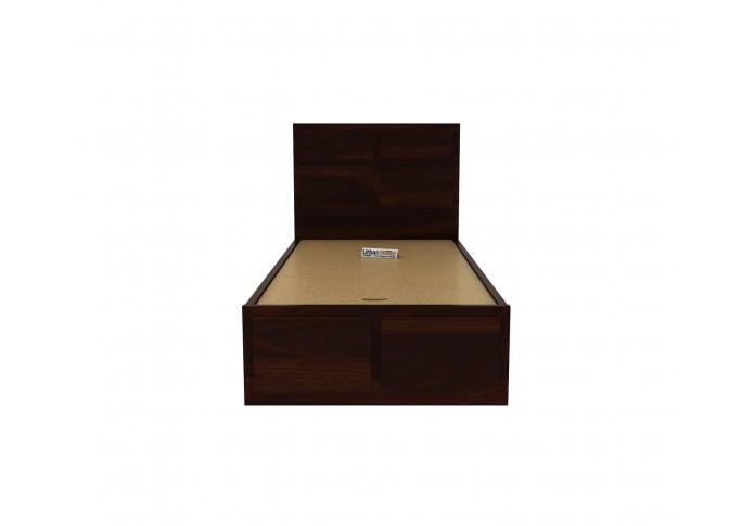 Bedswind Single Bed With Storage ( Walnut Finish )