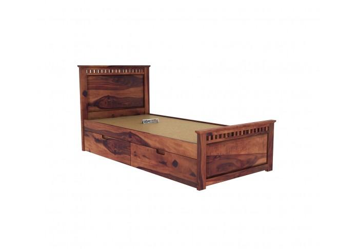 Fusion Single Bed With Storage ( Teak Finish )