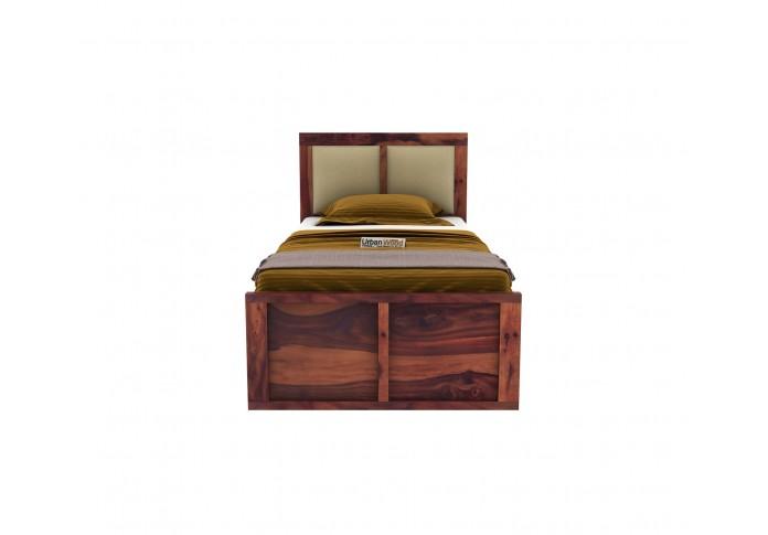 Harris Single Bed With Storage ( Teak Finish )