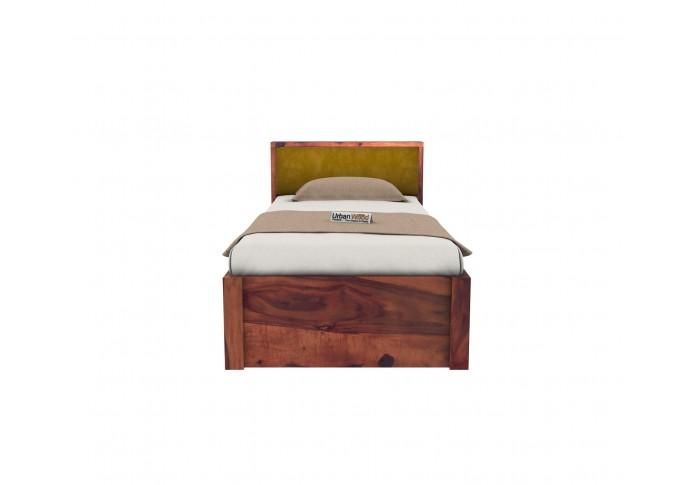 Laverock Single Bed With Storage ( Teak Finish )