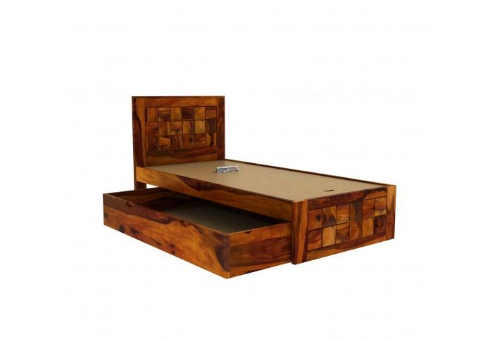 Morgana Single Bed With Storage <small>( Honey Finish )</small>