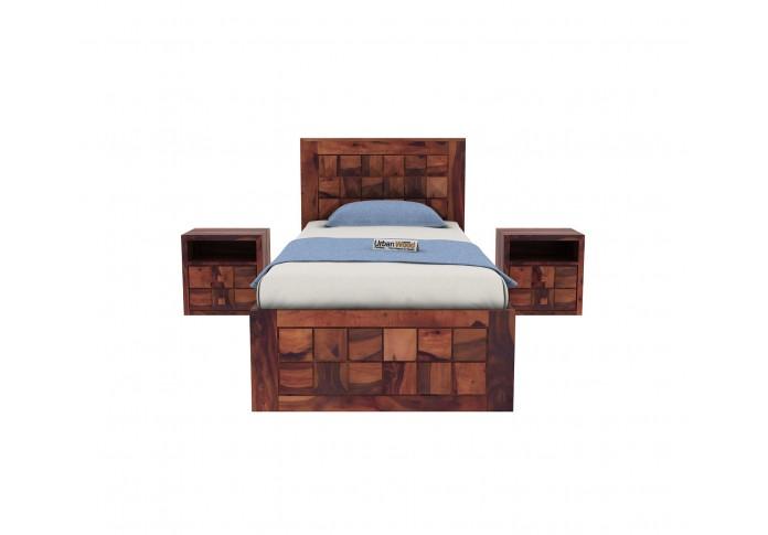 Morgana Single Bed With Storage ( Teak Finish )
