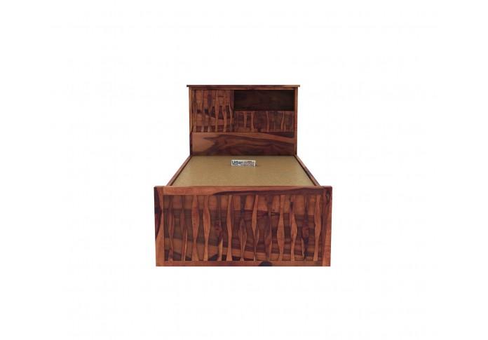 Stack Single Bed With Storage ( Teak Finish )