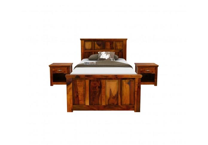 Thoms Single Bed With Storage ( Honey Finish )