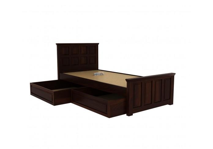 Thoms Single Bed With Storage ( walnut Finish )