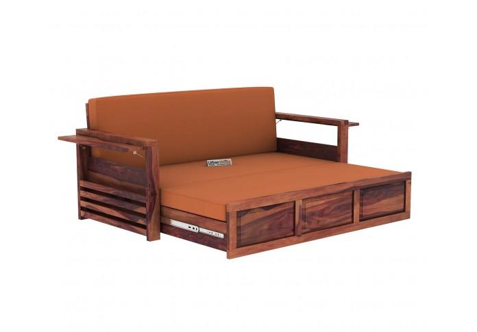 Aiden Sofa Cum Bed ( Teak Finish )