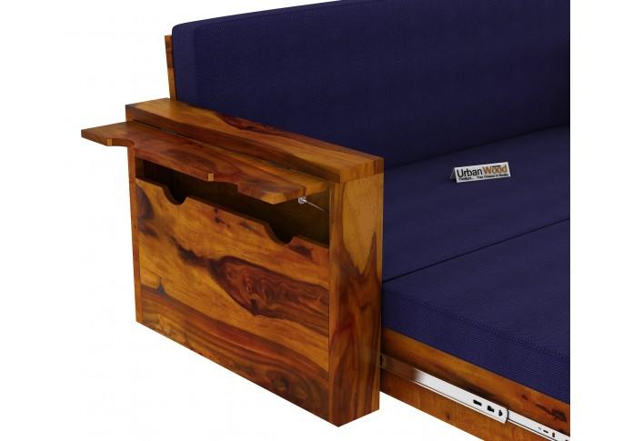 Aker Sofa Cum Bed ( Honey Finish )