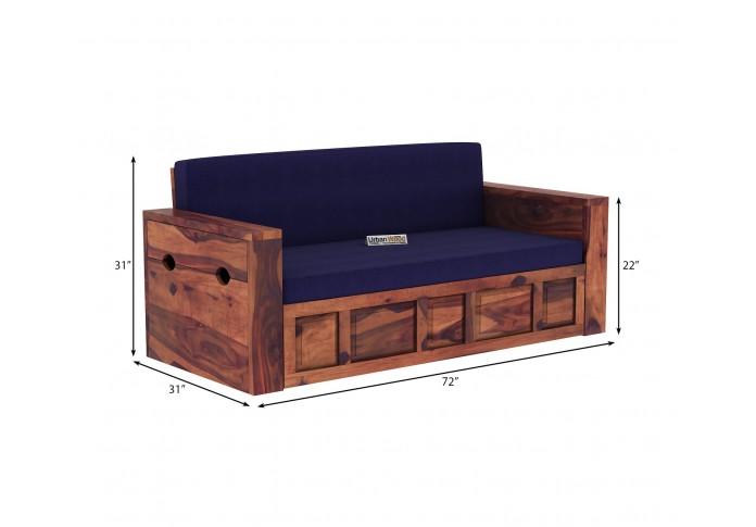 Aker Sofa Cum Bed ( Teak Finish )