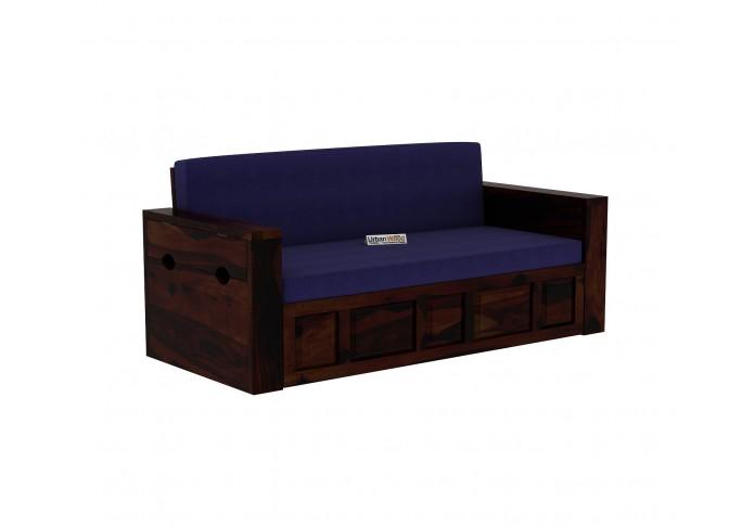 Aker Sofa Cum Bed ( Walnut Finish )