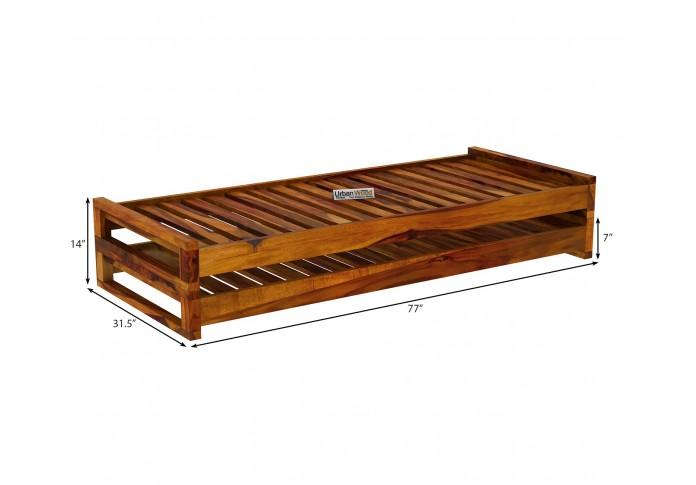 Aper Wooden Sofa Cum Bed (Honey Finish)