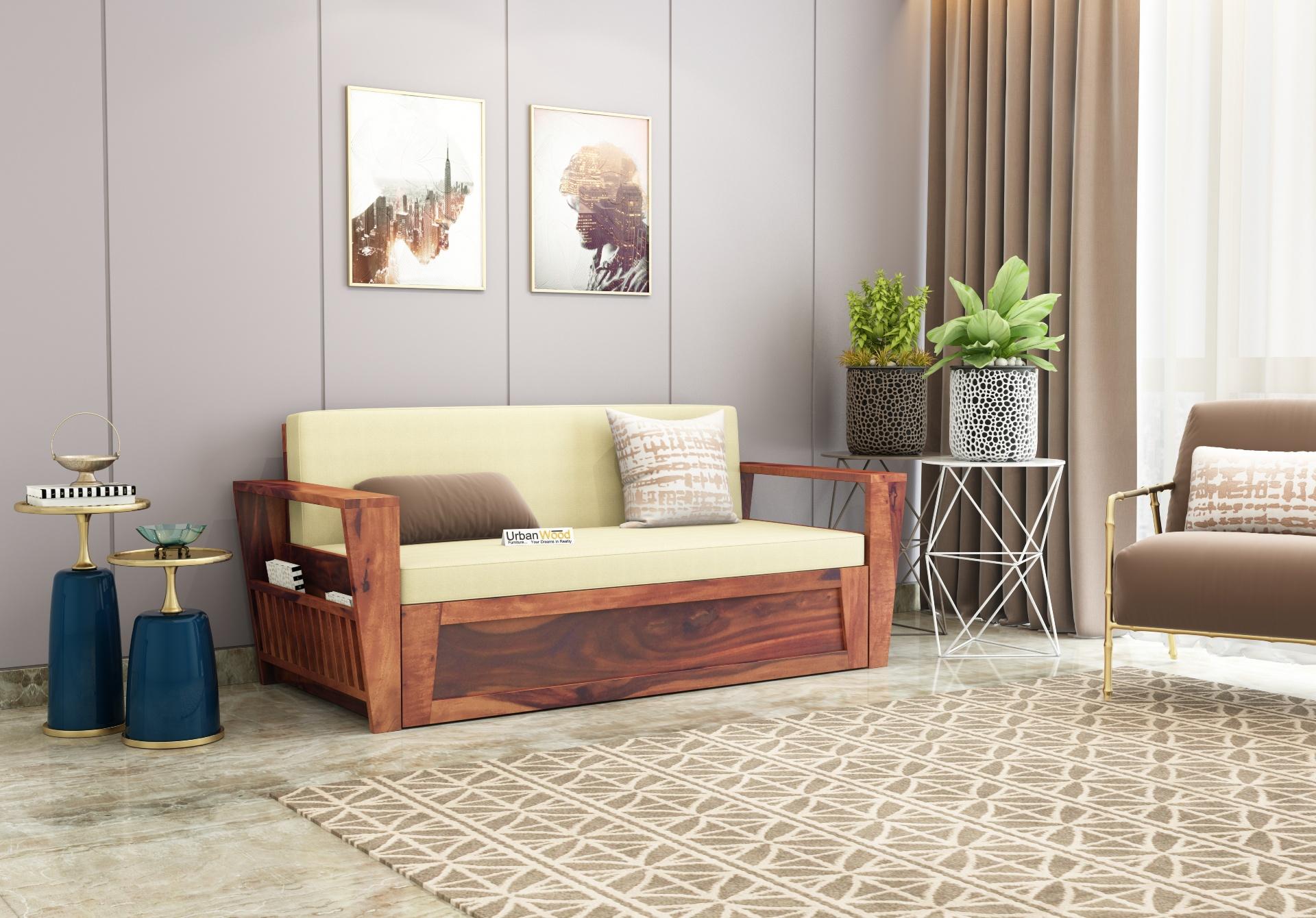 Bedex Sofa Cum Bed King Size <small>( Teak Finish )</small>