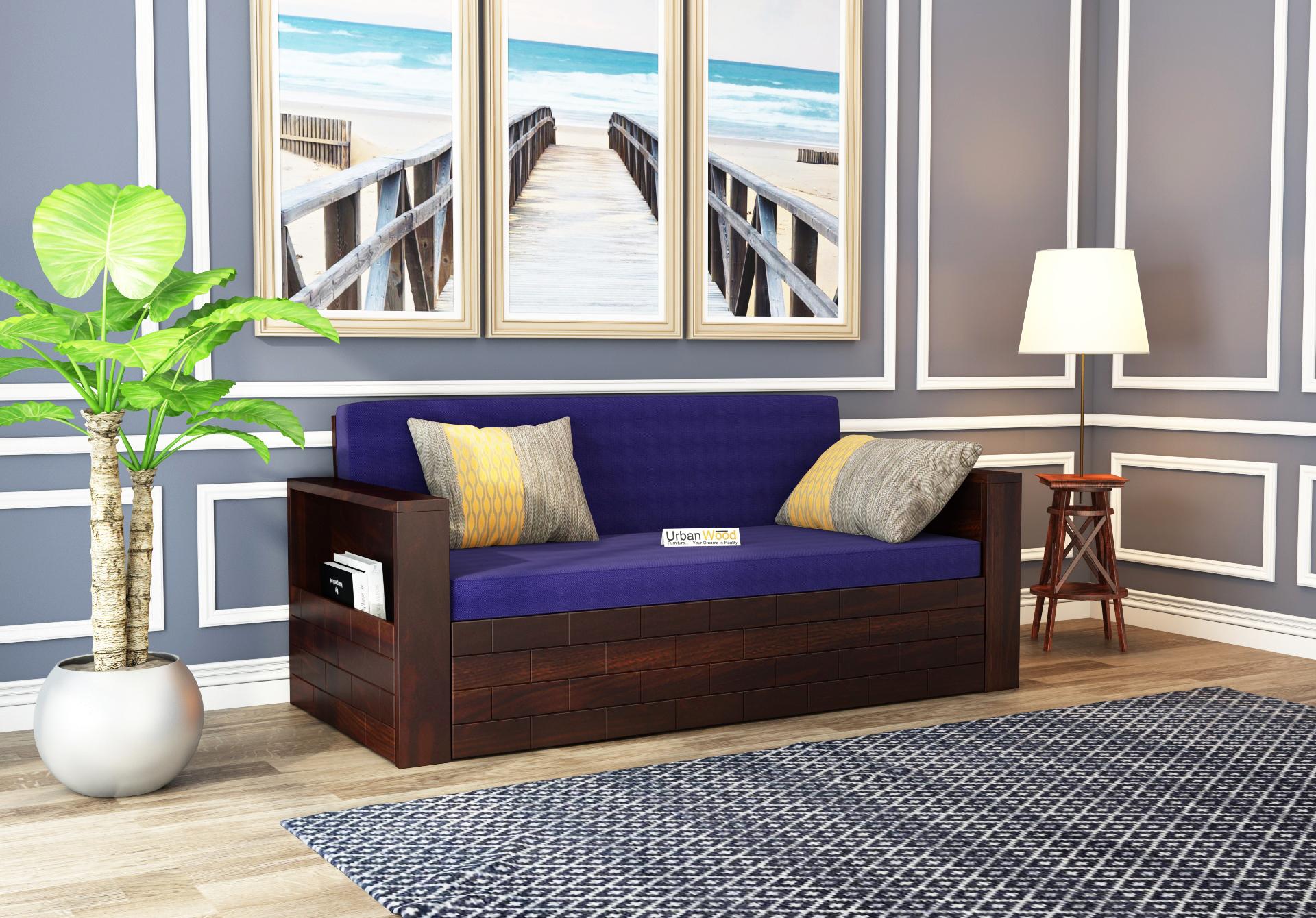 Cumry Sofa Cum Bed King Size <small>( Walnut Finish )</small>