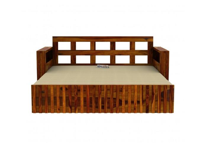 Kaia Sofa Cum Bed ( Honey Finish )