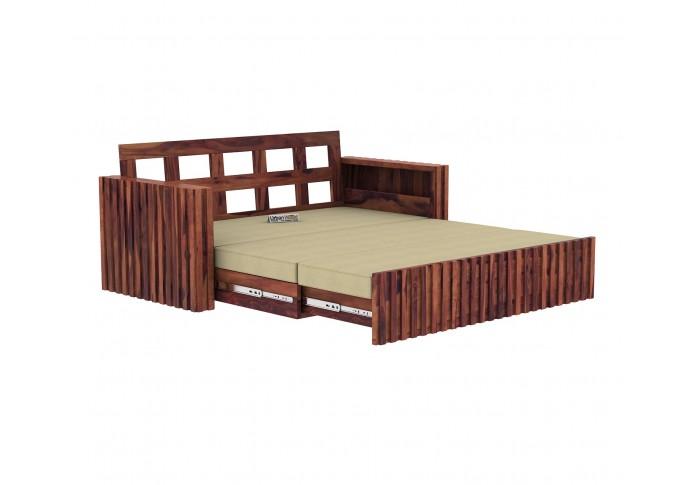 Kaia Sofa Cum Bed ( Teak Finish )