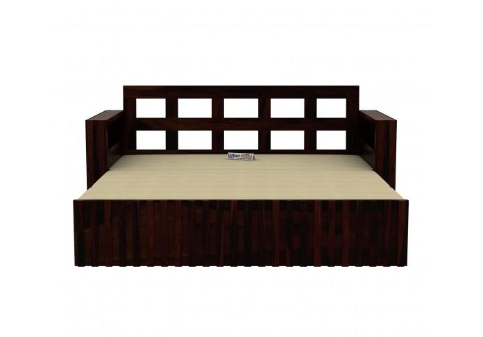 Kaia Sofa Cum Bed ( Walnut Finish )