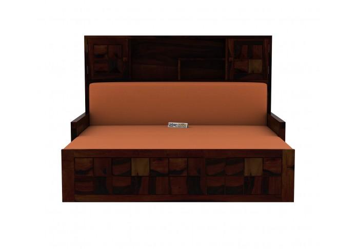 Morgana Sofa Cum Bed With Storage ( Walnut Finish )
