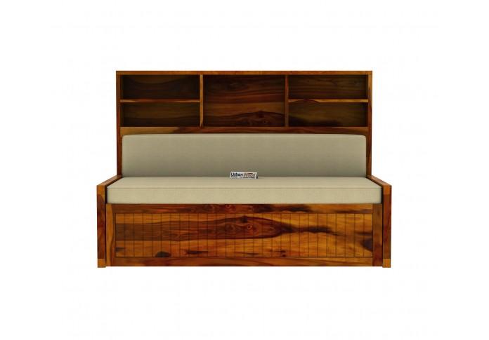 Relic Sofa Cum Bed with Storage ( Honey Finish )