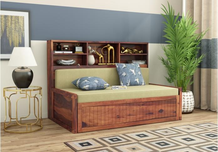 Relic Sofa Cum Bed with Storage ( Teak Finish )