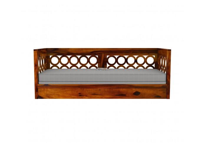 Sofasio Sofa Cum Bed ( Honey Finish )