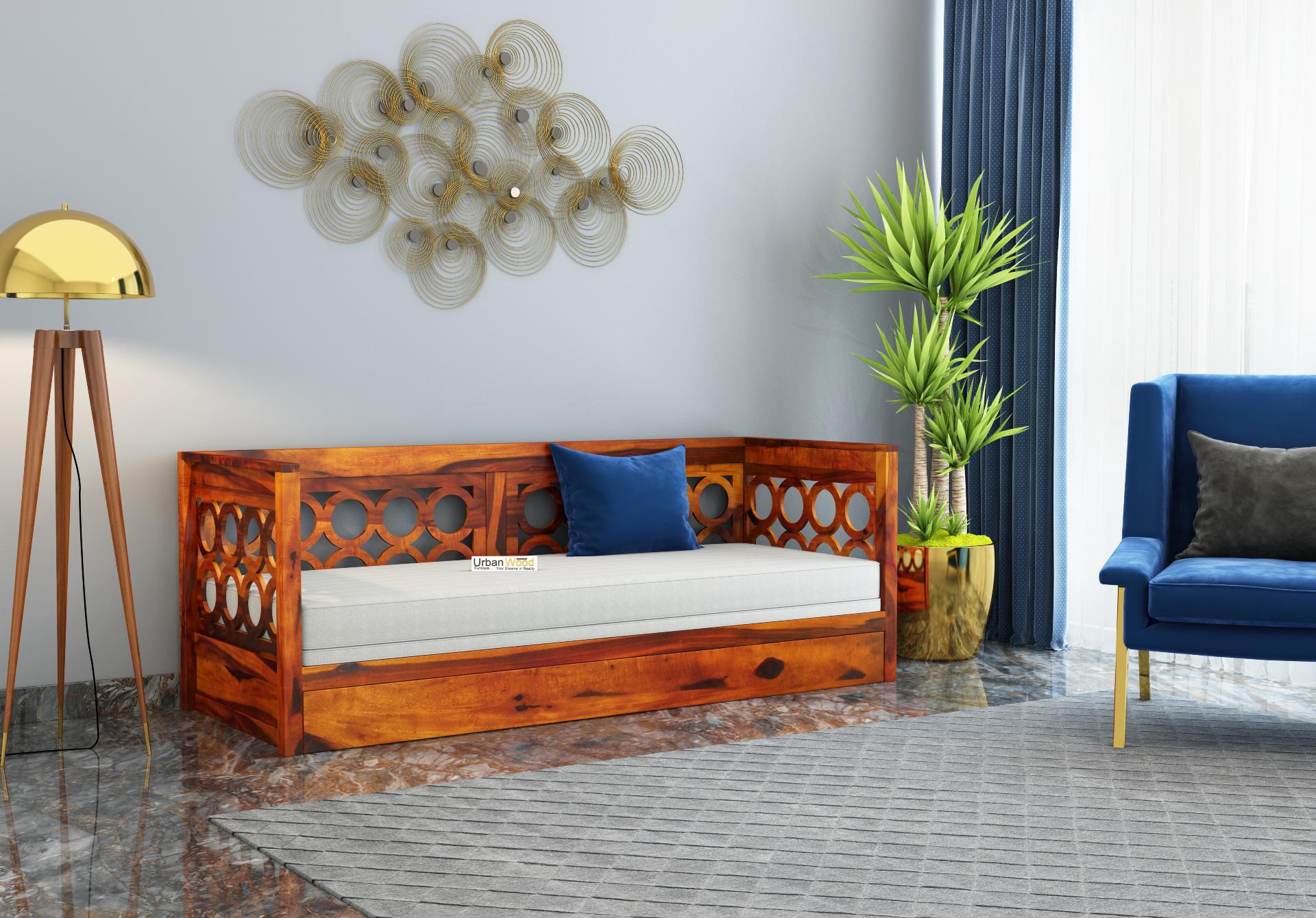 Sofasio Sofa Cum Bed <small>( Honey Finish )</small>