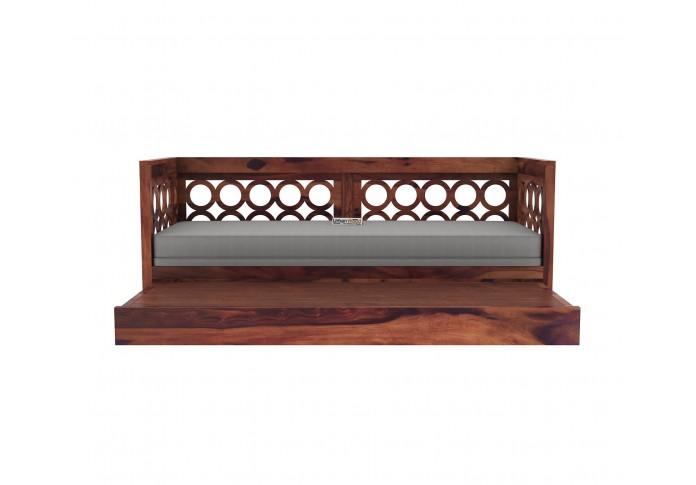Sofasio Sofa Cum Bed ( Teak Finish )