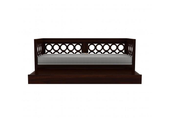 Sofasio Sofa Cum Bed ( Walnut Finish )