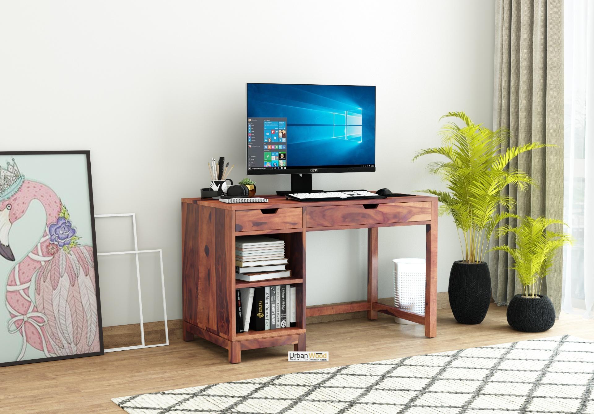 Kagiso Computer Table <small>( Teak Finish )</small>