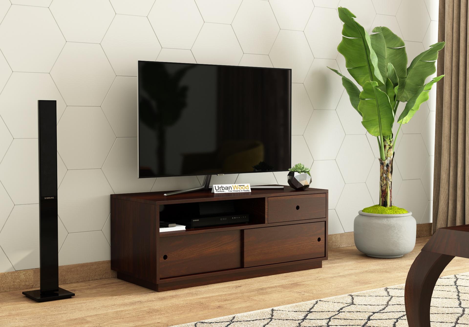 Anvil TV unit <small>( Walnut Finish )</small>