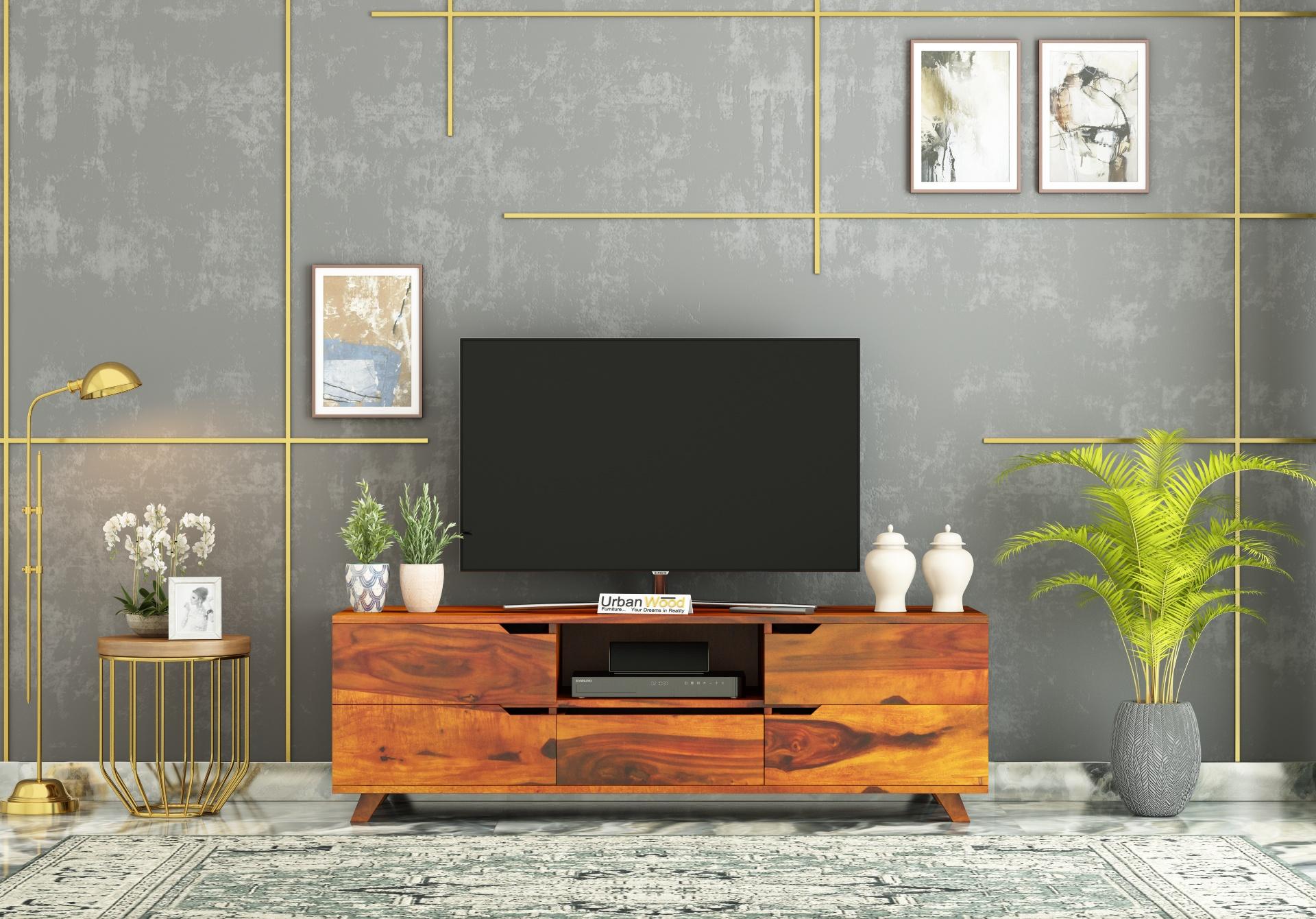 Binny TV unit <small>( Honey Finish )</small>