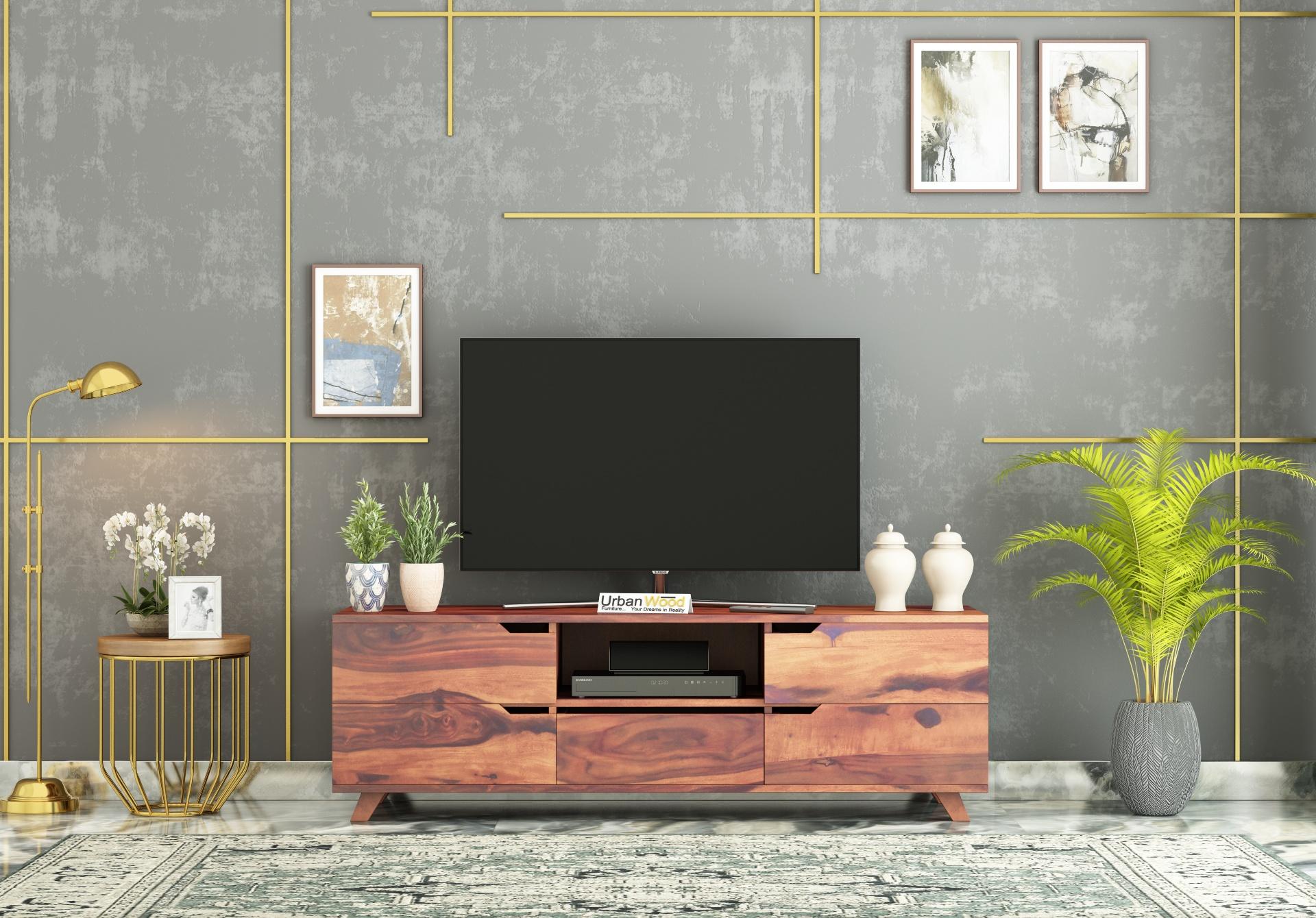 Binny TV unit <small>( Teak Finish )</small>