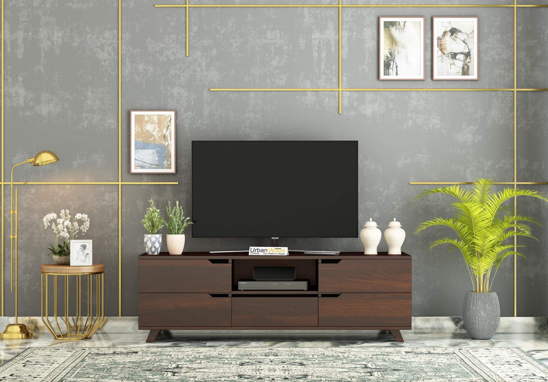 Binny TV unit <small>( Walnut Finish )</small>