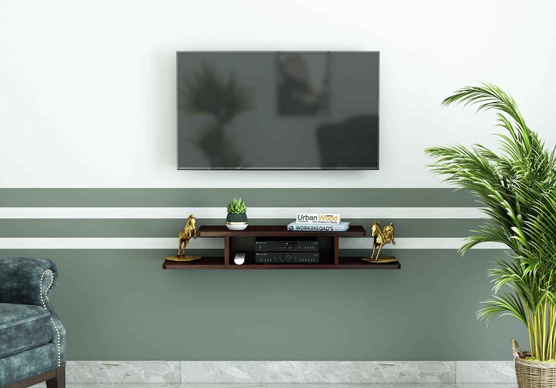 Talle Wooden Wall Mount TV Unit <small>(Walnut Finish)</small>
