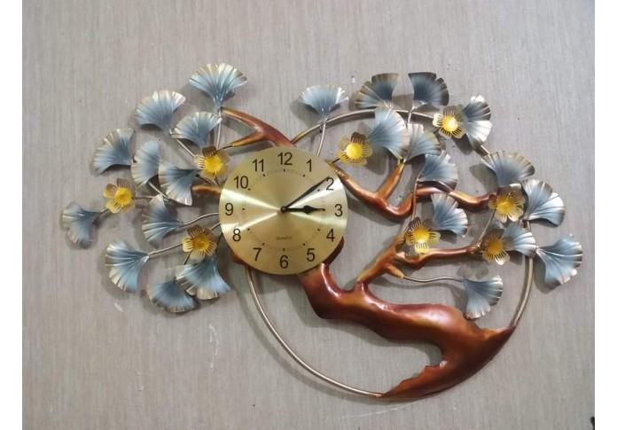 Metal Wall Clock Tree