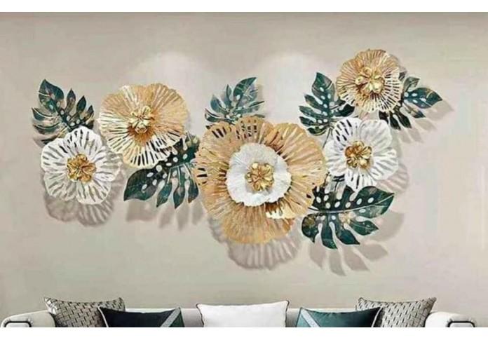 Metal Multi Color Flower wall decor