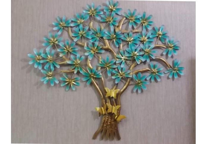 Metal Butterfly Tree Wall Decor